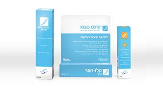 סדרת המוצרים של קלו-קוט לטיפול ומניעת צלקות